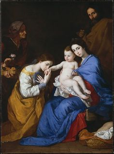 The Holy Family with Saints Anne and Catherine of Alexandria // 1648 // Jusepe de Ribera (called Lo Spagnoletto)  // José de Ribera