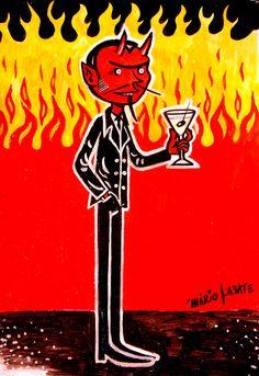 Devil and martini