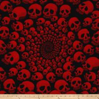 Alexander Henry The AH Vault Skullfinity Black/Red from From Alexander Henry, this cotton print fabric features creepy skulls and is perfect for quilting, apparel and home decor accents. Colors include black and shades of red. Skull Fabric, Red Fabric, Home Decor Colors, Colorful Decor, Skull Wallpaper, Pattern Wallpaper, Simpsons Drawings, Flame Art, Satanic Art