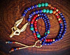 Hecho a mano Anubis necklace\ antiguo egypt\ Necklaces\ cuentas brass\ Lapis lazuli\ turquesa rojo hyolite\ coral\ carnelian\ antiguo Egipto