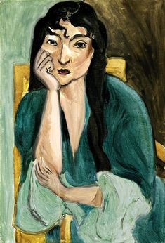Henri Matisse (French, 1869–1954) Meditation (Portrait of Laurette, an Italian model he completed 25 pictures from December 1916-1917) Oil on canvas 19 1/2 ...