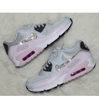 purchase cheap 60534 67ba8 Air Max 90 Swarovski Pure Platinum Bleached Trainer Outlet Formateurs  Hommes, Nike Air Max Pas