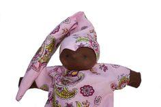 Handpop paars babypop baby popje donker met paars door MijnPopje, €11.95