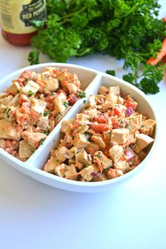 This Roasted Garlic Chicken Salad is the perfect blend of protein and healthy fats for your whole30 challenge or paleo lifestyle!