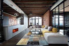 Loft contemporâneo cheio de ideias originais de decoração para você se inspirar - limaonagua. Arquitetos Igor Martin e Olga Novikova do escritório MARTINarchitects