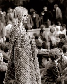 A hippie girl photographed in the Summer of Love. 1967