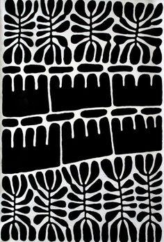 print inspiration beautiful design pattern black and white block print art Graphic Patterns, White Patterns, Print Patterns, Graphic Design, Tribal Patterns, Print Design, Motifs Textiles, Textile Patterns, Surface Pattern Design