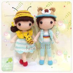 蜜蜜与小熊  Miss Bee and Mr. Bear  #amigurumidoll #amigurumi #crochet #crocheting #häkeln #haken #hobby #handmade #handcraft #couple #doll #lovely #yarn