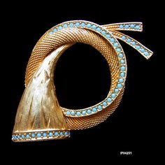 Vintage SPHINX Hunting Horn Brooch Pin by AntiquingOnLine on Etsy, $35.00
