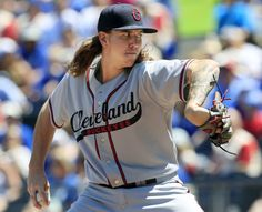 Cleveland Indians starting pitcher Mike Clevinger delivers to a Kansas City Royals batter during the first inning  at Kauffman Stadium in Kansas City, Mo., Sunday, May 7, 2017. The Royals are playing in throw-back Kansas City Monarchs uniforms, Indians are playing in Cleveland Buckeyes uniforms as a tribute to the Negro Leagues. (AP Photo/Orlin Wagner) Indians won 1-0