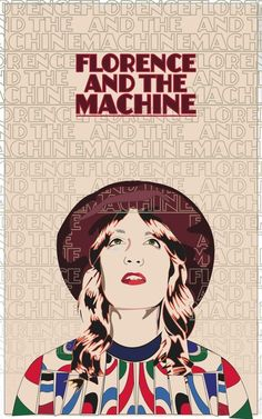 Florence and the Machine Wall Poster - 24 in x 15 in - Fast shipping in tube