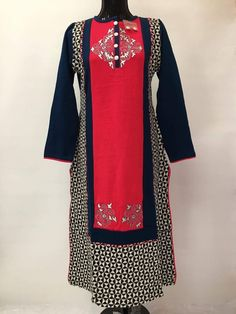 Winter Special Woolen Kurti India Fashion, African Fashion, Long Kurtis, Lengha Choli, Winter Wear, Winter Collection, Types Of Sleeves, Fashion Dresses, Dark Colors