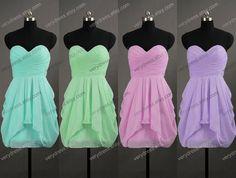 Sweetheart Knee-length Short Mint Bridesmaid Dress Wedding Party Dress Prom Dress 2014 on Etsy, $60.11 AUD