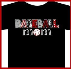Baseball MOM shirt Softball Mom TBall Mom by WalnutStreetHouse2