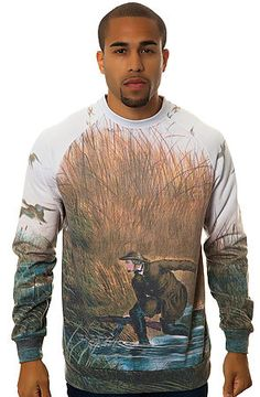 The Pursuit Sweatshirt in Blue Multi by Crooks and Castles