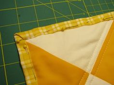 Cheater's quilt binding.  For lazy people, like me, who hate using bias tape to bind quilts.