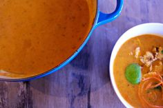 The Cardigan Kitchen's coconut red curry soup