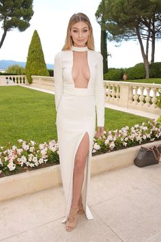 Gigi Hadid arrives at amfAR's 22nd Cinema Against AIDS Gala, presented by Bold Films and Harry Winston at Hotel du Cap-Eden-Roc in Cap d'Antibes, France, on May 21, 2015.   - Cosmopolitan.com