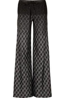 Missoni Metallic knitted drawstring pants | NET-A-PORTER