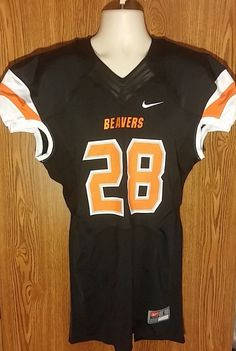 Nike Oregon State Beavers Speed Mach Team Issued Football Jersey Men's Large #Nike #OregonStateBeavers