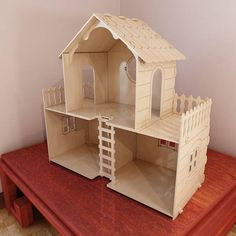 Big Barbie dollhouse cut plans for CNC users.Wooden Dollhouse. Vector model for CNC router and laser cutting. Barbie size. Plywood 5mm/6mm.