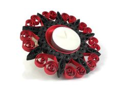 Paper quilling Quilled candle holder by Herpaperparadise on Etsy
