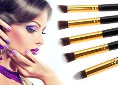 New 5PCS Makeup Cosmetic Tool Eyeshadow Foundation Makeup Brush Set