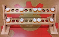 Pill bottles pills and bottle on pinterest for Pill bottle storage rack