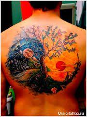 Картинки по запросу татуировка — дракон, обвивающий символ инь-ян