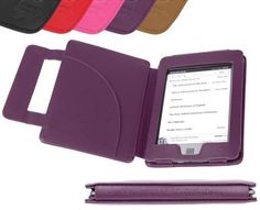 DURAGADGET Purple Genuine Leather Book Style Cover Case With Magnetic Clasp For Amazon New Kindle Touch and Touch 3G, Wi-Fi, 6 - Inch Display by DURAGADGET. $29.99. DURAGADGET's new funky purple leather book-style case for the Amazon Kindle Touch (Latest Edition) protects your Kindle and enhances its use. The soft leather outer acts as a tactile barrier protecting from knocks and scratches whilst out and about.The inside of the case is constructed from tough PU Leather t...