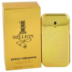 1 Million by Paco Rabanne Eau De Toilette Spray 1.7 oz  #belowretail #nichefragrances #menscologne #luxuryfragrances #mensfragrances #designerfragrances #cologne