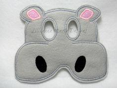 Máscara hipopotamo de tela