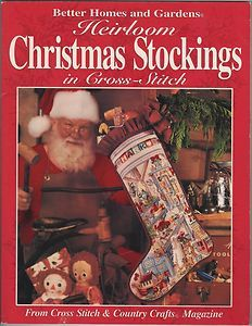 Better Homes Gardens Heirloom Christmas Stockings in Cross Stitch Pattern Book 0696205114 | eBay