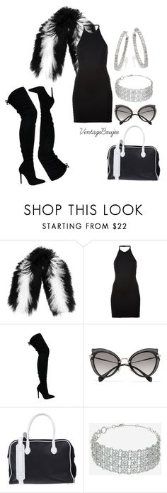 """""""Untitled #195"""" by vintageboujee ❤ liked on Polyvore featuring Charlotte Simone, Balmain, Miu Miu, Topshop and Roberto Coin"""