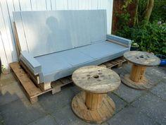 My boyfriends pallet sofa - of own design  - Part 6