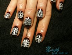 Nail art inspired by album covers (Joy Division) #nailart #makeup #art