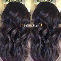 Smokey blue Amethyst toned ✨Painted Hair✨ Snapchat:Pa1ntedhair YouTube: Link in bio Facebook.com/pa1ntedhair #b3 #brazilianbondbuilder #inspiredbyb3 #licensedtocreate #hairinspo #brunettehair #transformation #brunette #colorcorrection #beforeandafter #blonde #blondehair