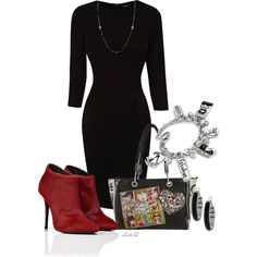 """""""LBD + Red Booties = Sexy"""""""