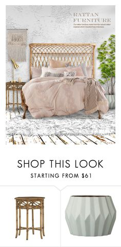 """""""Rattan"""" by debraelizabeth ❤ liked on Polyvore featuring interior, interiors, interior design, home, home decor, interior decorating, Tommy Bahama, Peri and Bloomingville"""