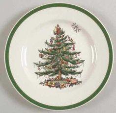 SPODE Christmas Tree Gold 4 Piece Place Setting NEW W// BOX 1st Quality EUC