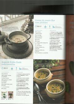 150 receitas as melhores de 2013 Spanish Food, Spanish Recipes, Happy Foods, Soup Recipes, Cheesecake, Veggies, Meals, Tableware, Creme