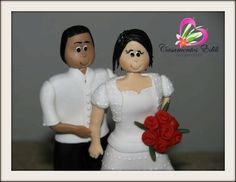 noivinhos de biscuit  http://www.casamentosedili.com/