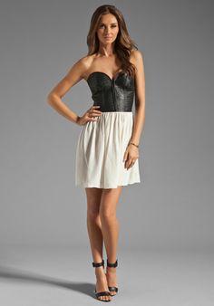 Parker leather corset dress- Cusp