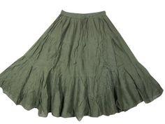 "Peasant Skirt for Women, Asparagus Green Bohemian Clothing Sequin Cotton Skirts 28"" Mogul Interior,http://www.amazon.com/dp/B00BIYW212/ref=cm_sw_r_pi_dp_JU9jrb1YK3YM07XC"
