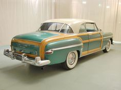 1950 Chrysler Town and Country:  One like this actually brought me home from the hospital as a new born babe.  My Dad kept it until it was stolen in 1975 :-(