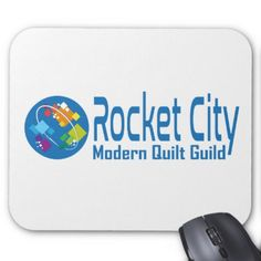 Rocket City Modern Quilt Guild Logo Mouse Pad - modern gifts cyo gift ideas personalize