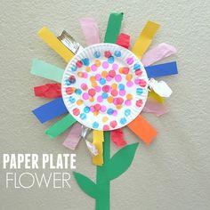 paper plate flower - flower kid crafts - acraftylife.com #preschool #craftsforkids #crafts #kidscraft