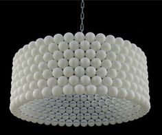 How neat is this. Wonder if I can find that many Ping Pong balls. Ping Pong Ball Lamp by Diaz Kleefstra is made of 315 balls! Recycled Crafts, Recycled Materials, Recycled Lamp, Ping Pong Lights, Diy Luz, Diy Luminaire, Diys, Diy Light Fixtures, Diy Chandelier