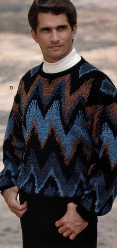 Men's Sweater from a 1991 catalog #1990s #fashion #vintage