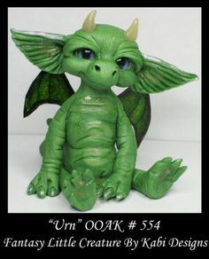 Fantasy Little Dragon Dollhouse Art Doll Polymer Clay CDHM OOAK Iadr Urn Mini | eBay